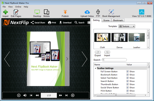 Next Flipbook Maker v2.7.3免费版Next Flipbook Maker(1)